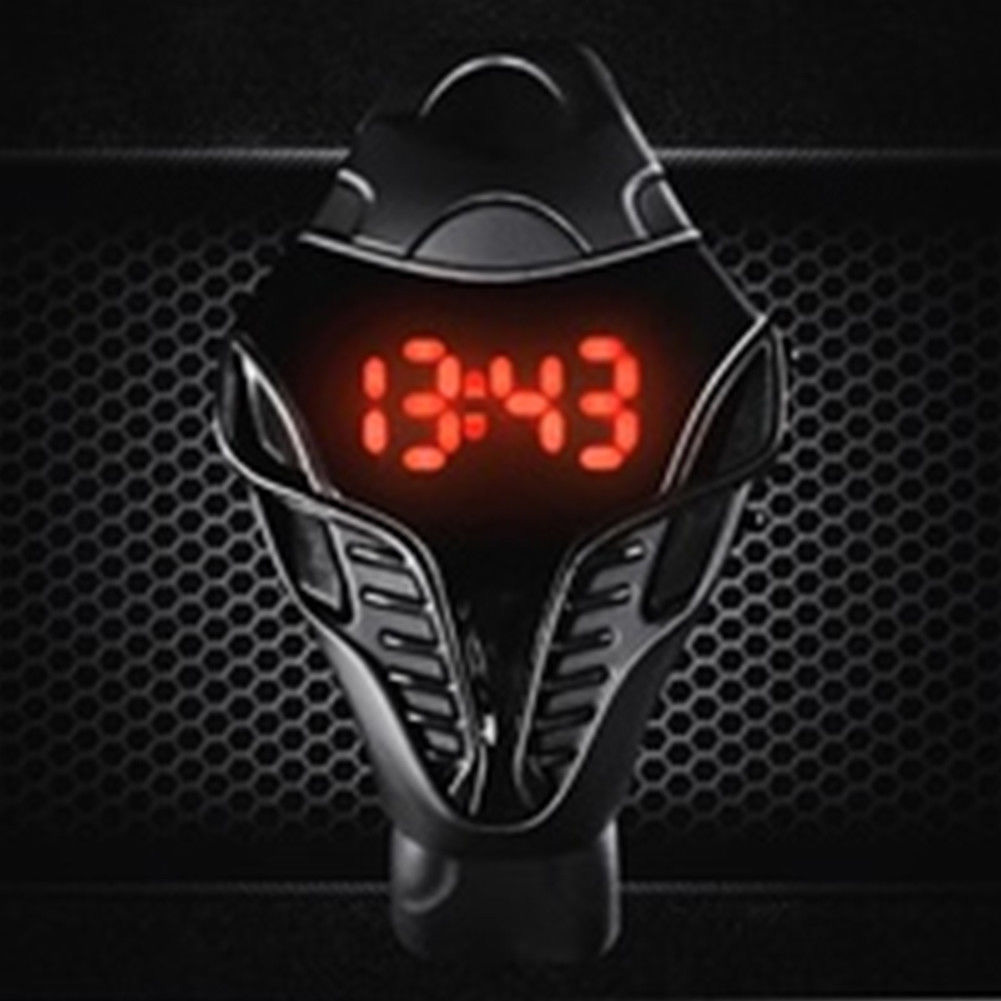 Children Reminder Triangle Dial Cool Digital Watch Calendar Sport Unisex Led Gift Valentine's Day Electronic Wristwatch Silicone
