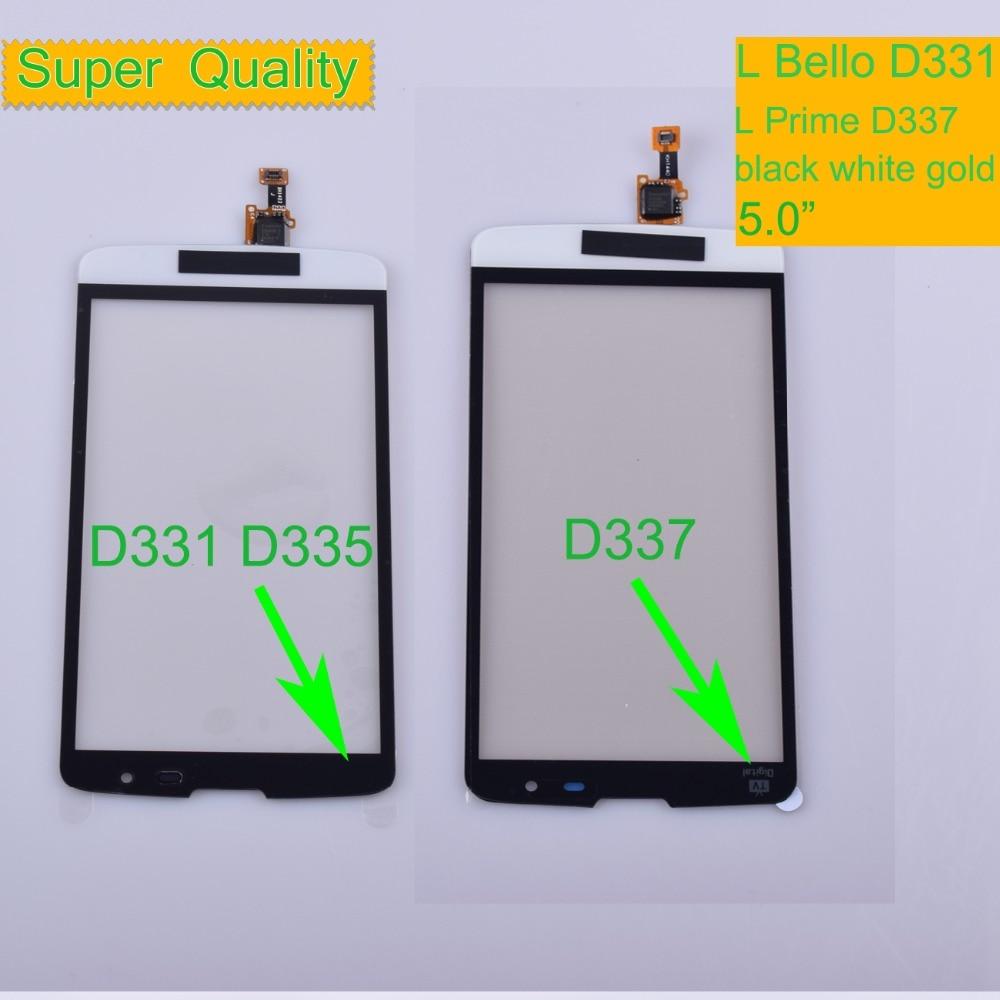 10 шт./лот для LG L Bello D331 D335 Touch L Prime D337 TV сенсорный экран Сенсорная панель дигитайзер Переднее стекло Внешний сенсорный экран