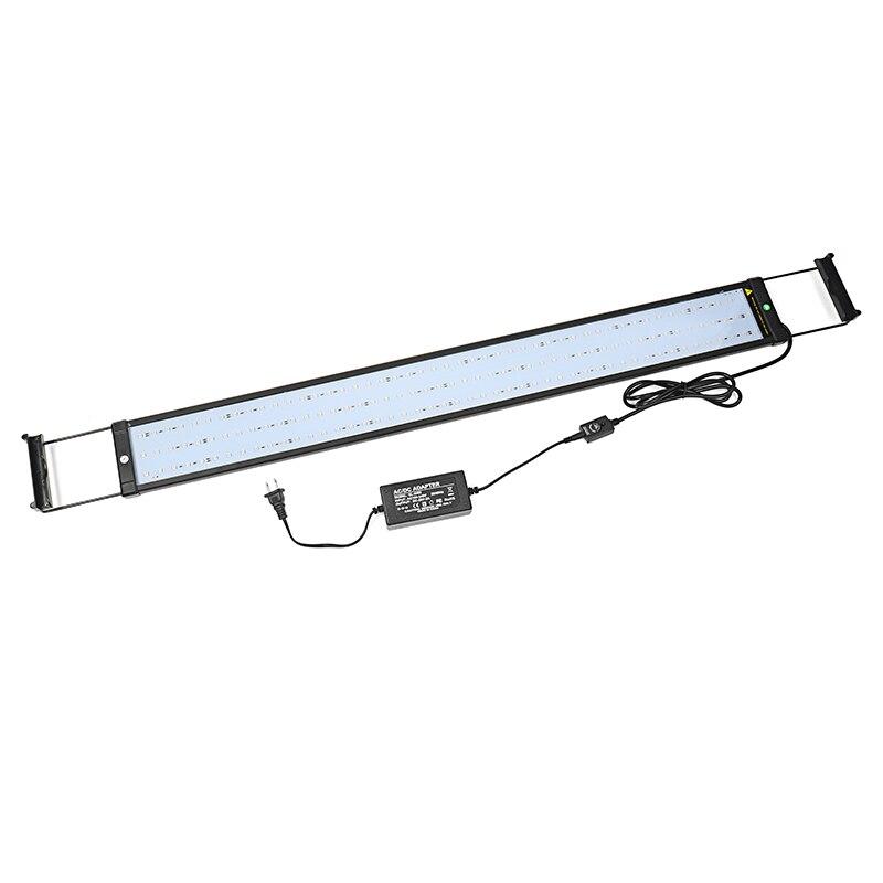 94 cm Aquarium Aquarium lumière LED Bar 27 W 5050 SMD 144 LED RGB plante lampe avec télécommande 110-240 V US/EU Plug