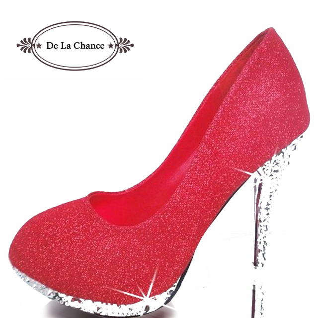 2018 Glitter Wedding Shoes Bridal Evening Party Crystal Red Bottom High Heels  Women Shoes Sexy Women s Pumps Bridal Shoes 5f2d20101300