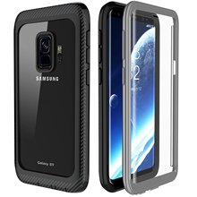 For Samsung Galaxy S9 Case 360 Degrees Protection Full body Rugged Clear Bumper Case With Built in Screen Protector