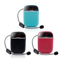 Portable Wireless Voice Amplifier Speaker Bluetooth Handheld Headset Mic Teaching Speaker Megaphone Teacher Guide Loudspeaker