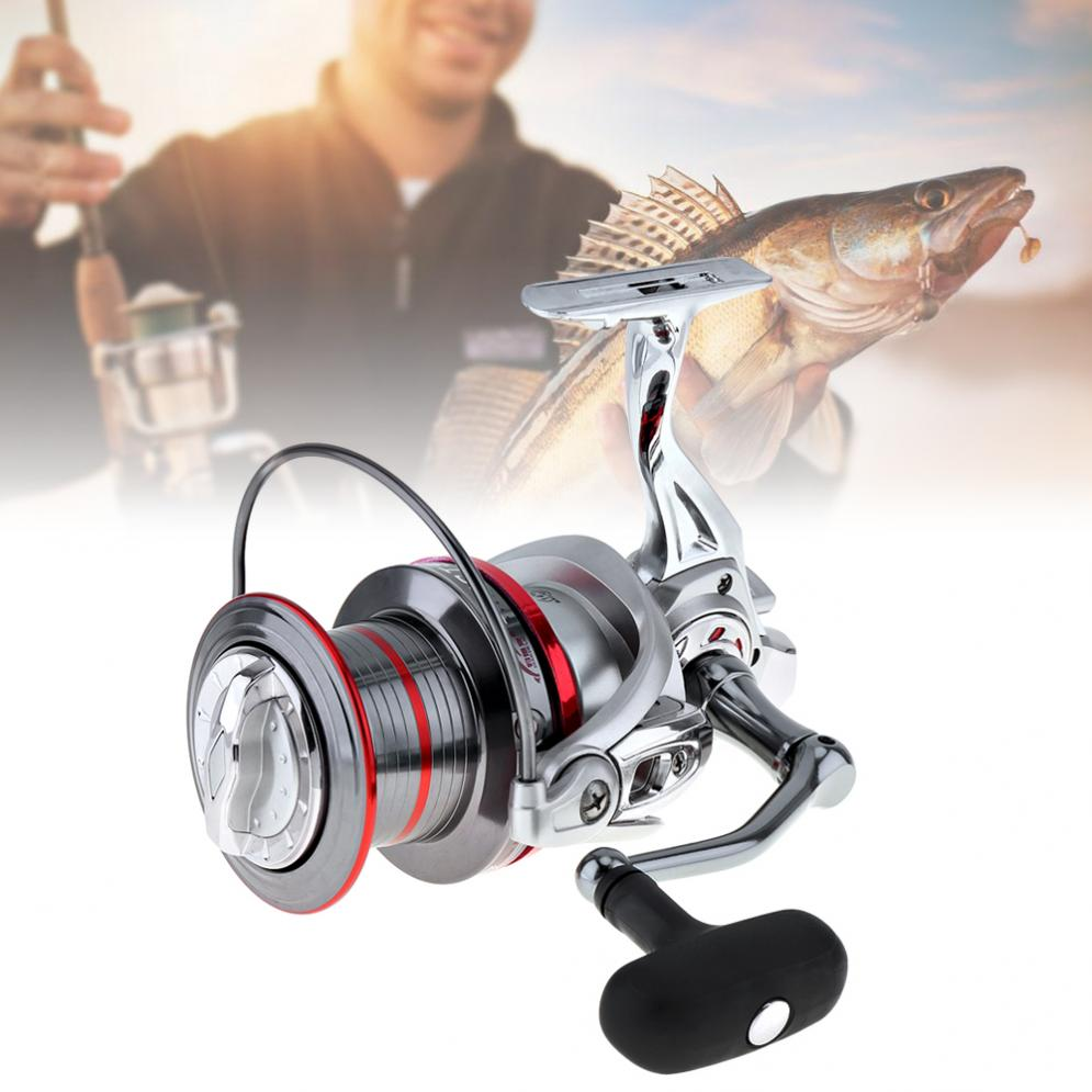 Full Metal Spinning Fishing Reel 12000 Series 14+1 Ball Bearing Long Distance Surfcasting Wheel with Larger Spool ball bearing professional long distance casting spinning fishing reel surfcasting reel left right spinning reel