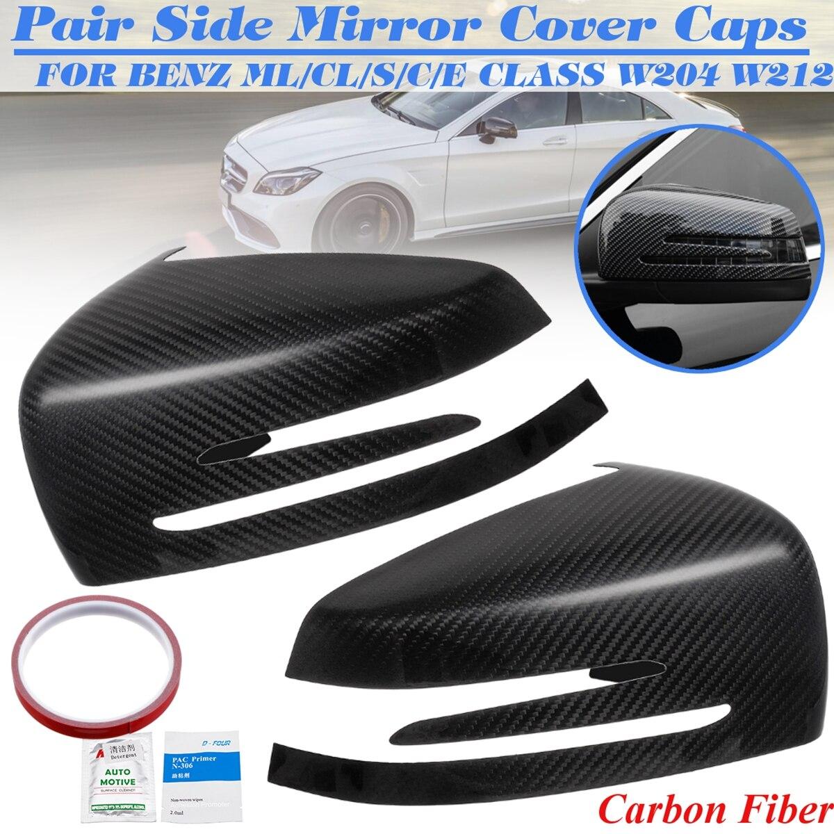 Pour Benz W204 C207 W212 C207 A207 W218 X204 C216 W221 véritable carbone Fieber porte rétroviseur aile clignotant couvercle