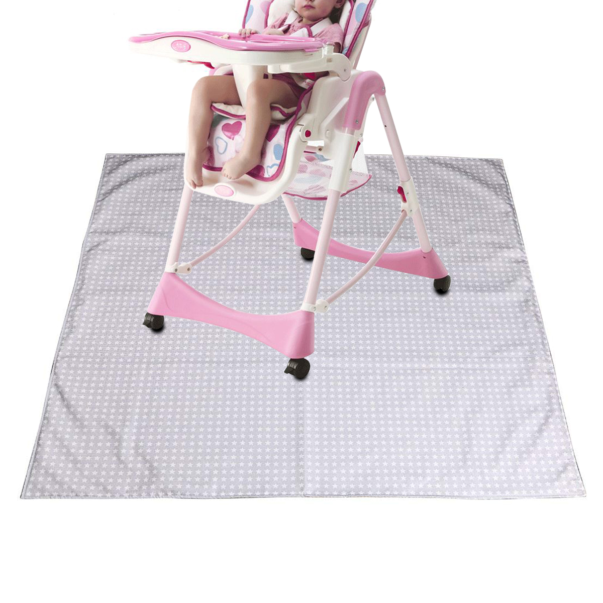 Baby High Chair Floor Mat Protector Cover Washable Splat