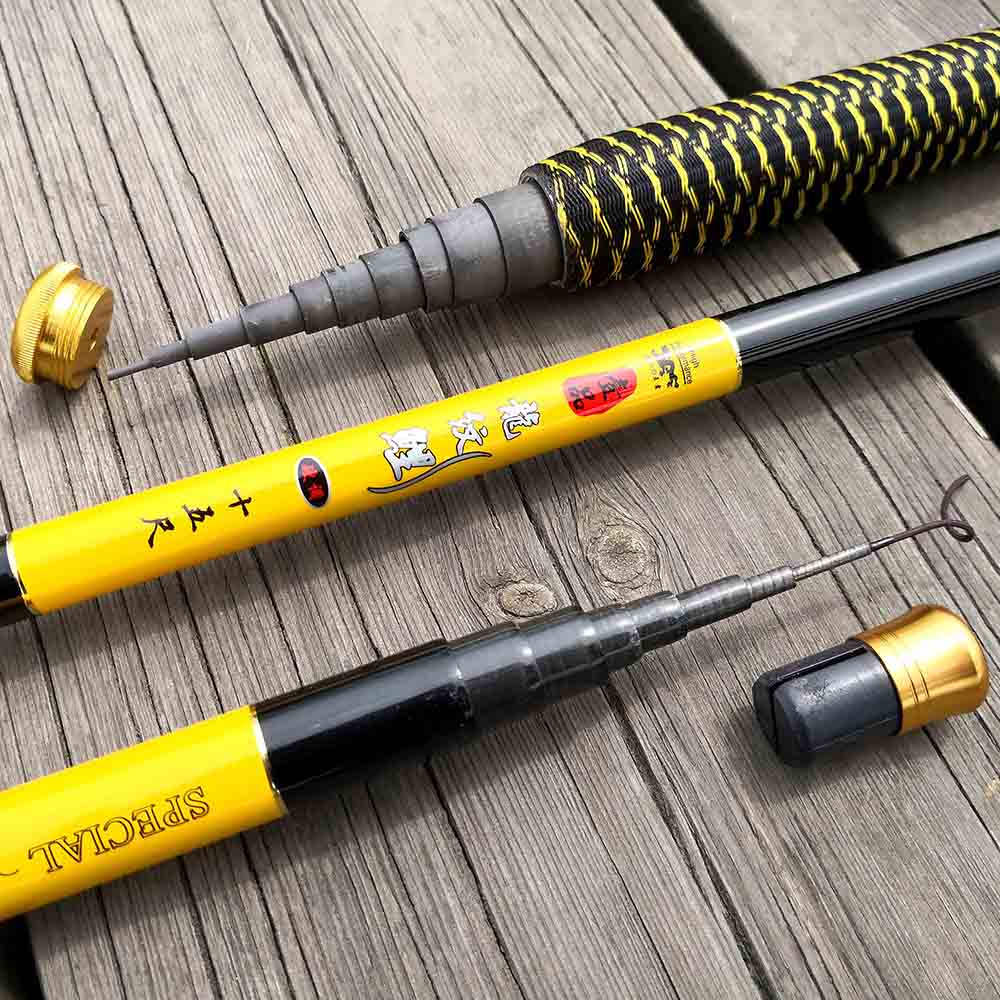Ultralight and Super Hard Telescopic Fishing Rods with Braided Handle and Rotatable Handle 2