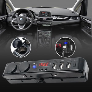 Image 1 - Multi function Car USB Charger Cigarette Lighter Socket +Thermometer +Voltmeter