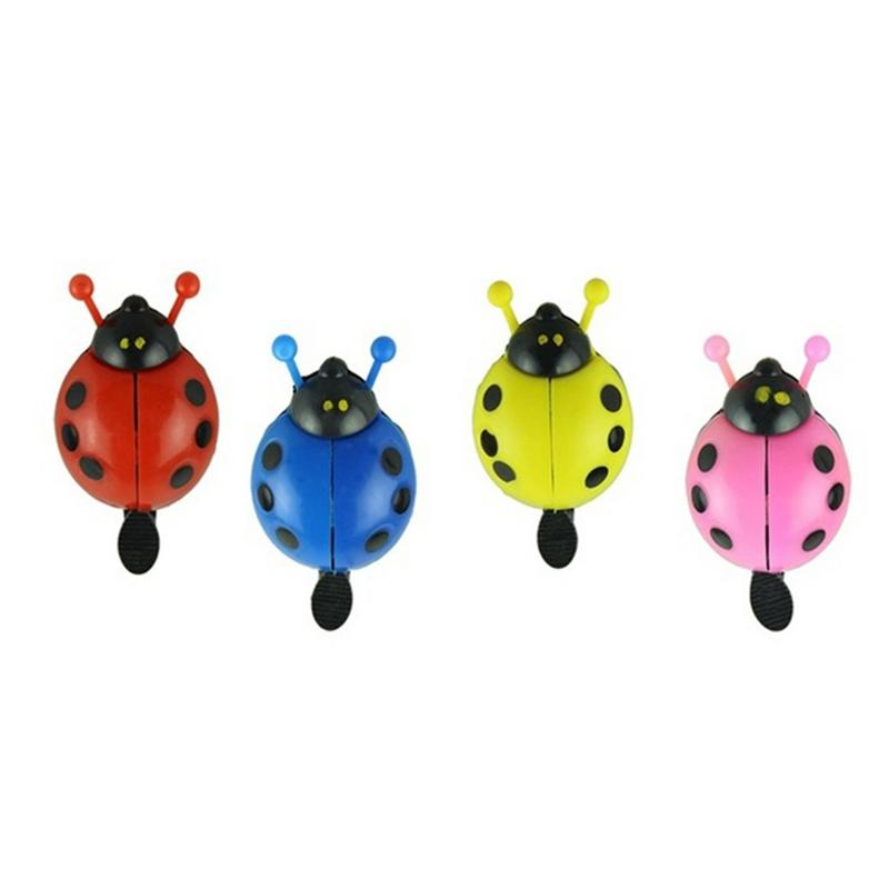 Outdoor Sports Cycling Bicycle Bell Exquisite Steel Plastic Ladybug Outdoor Bicycle Fun Sports Crisp Sound Bicycle Bell
