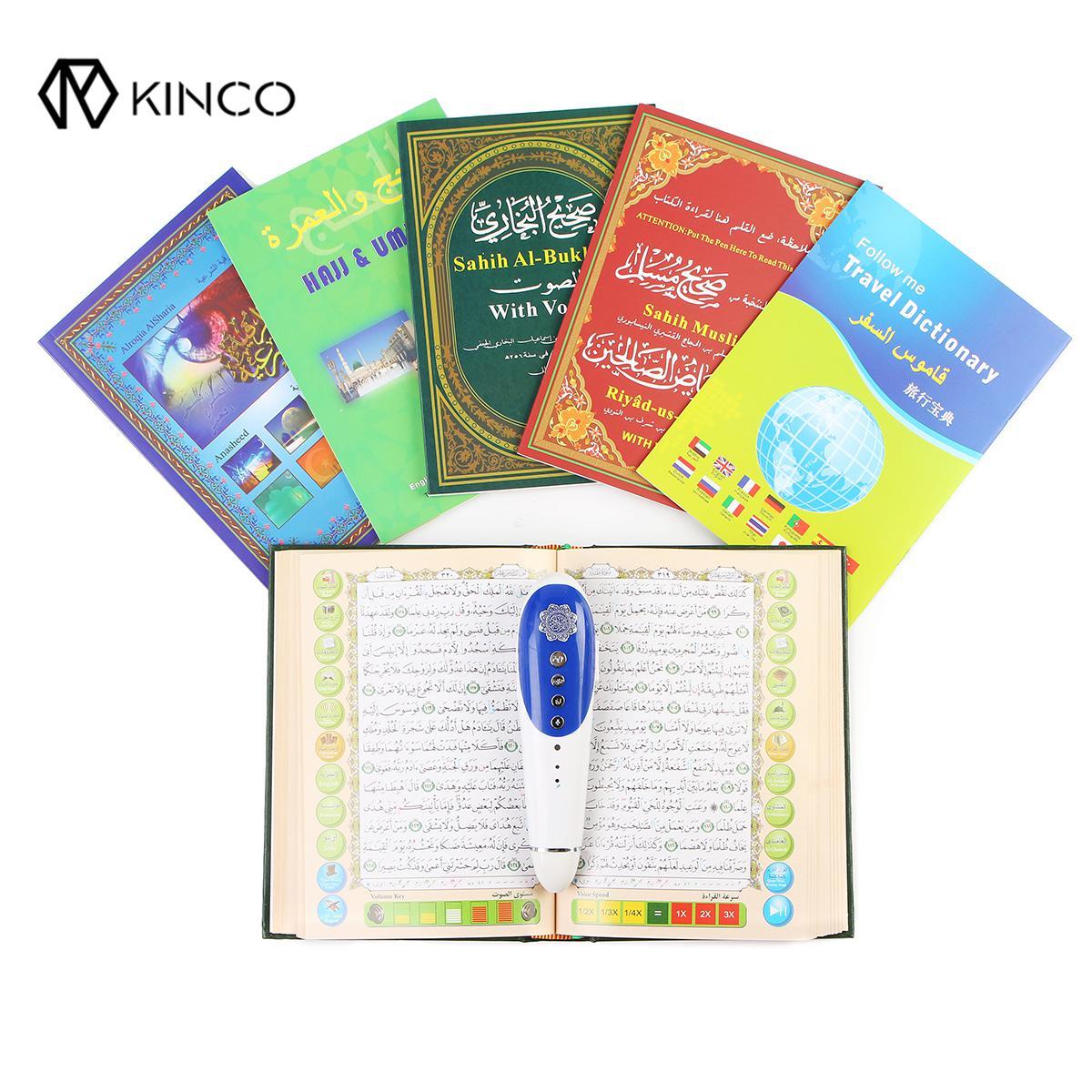 Nouveau lecteur de stylo numérique coran 8 GB 23 langues lecteur numérique coran stylo haut-parleur récite FM MP3 TF avec 6 livres