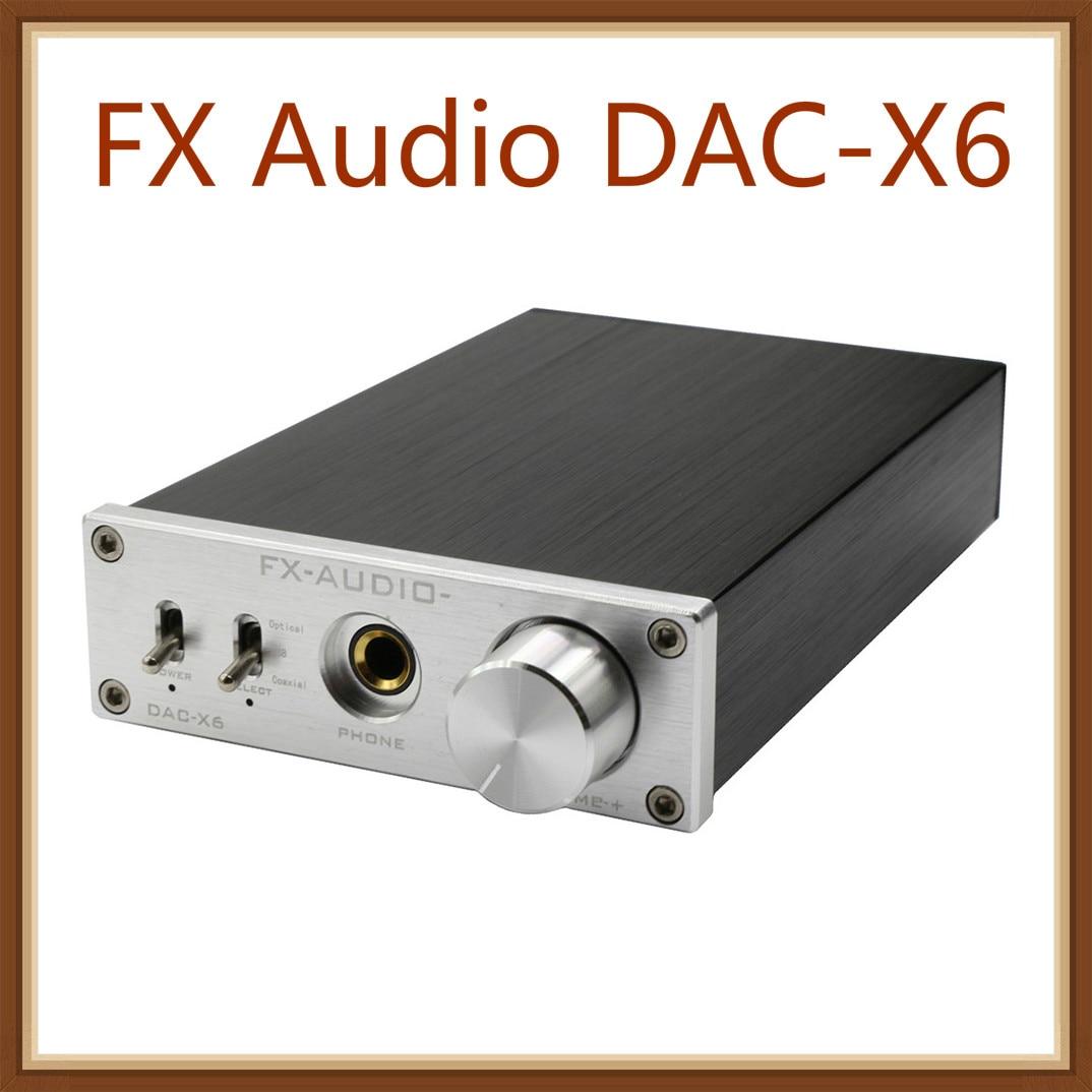 FX Audio DAC-X6 HiFi Optical/Coaxial/USB Digital Audio Amplifier DAC DecoderFX Audio DAC-X6 HiFi Optical/Coaxial/USB Digital Audio Amplifier DAC Decoder