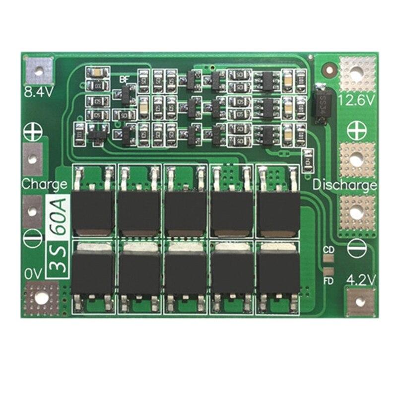 3S 60A Bms Board 11.1V 12.6V 18650 Li-Ion Lithium Battery Protection Board Enhanced Version
