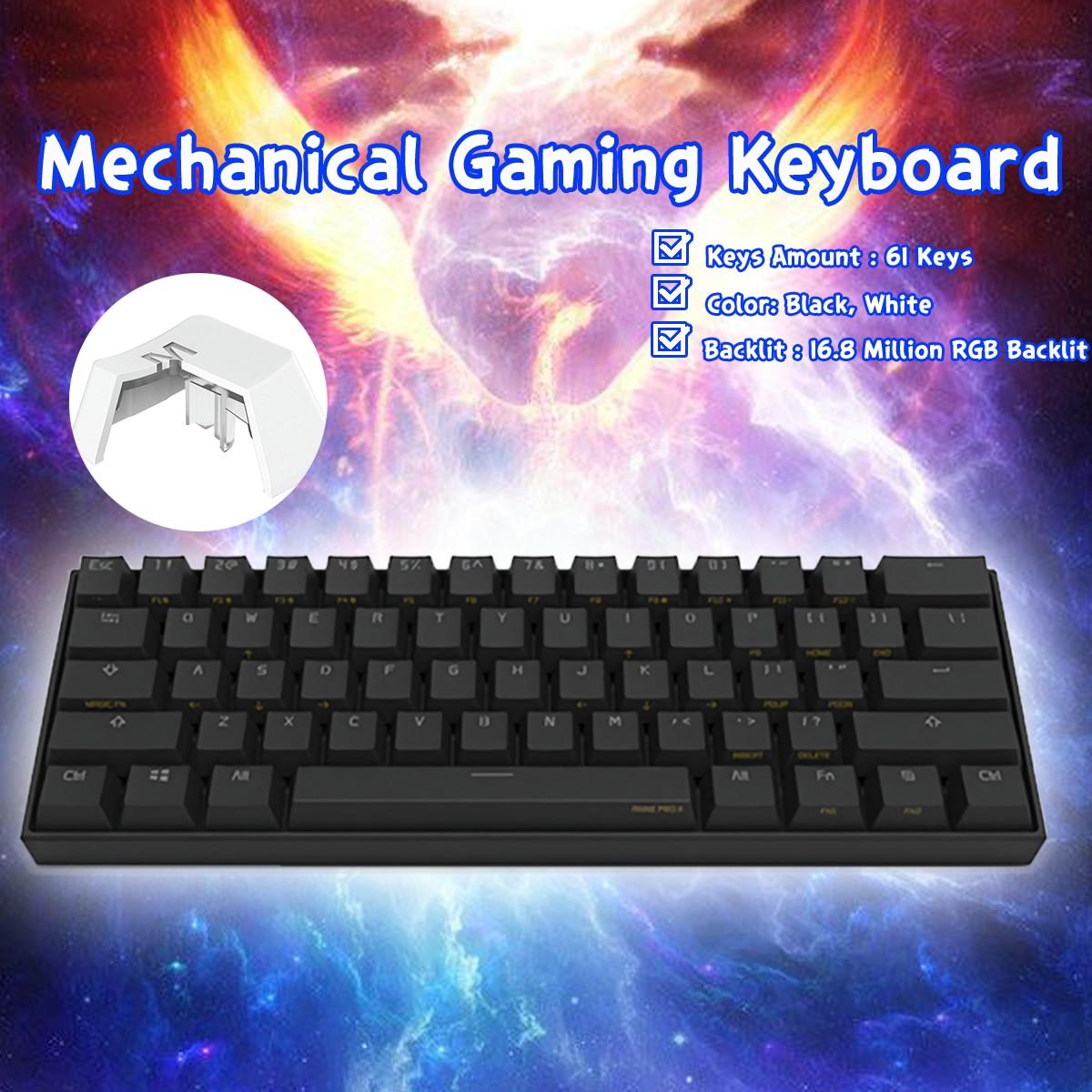 [Kailh BOX Switch] Obins Anne Pro 2 60% NKRO Bluetooth 4,0 type-C RGB Механическая игровая клавиатура