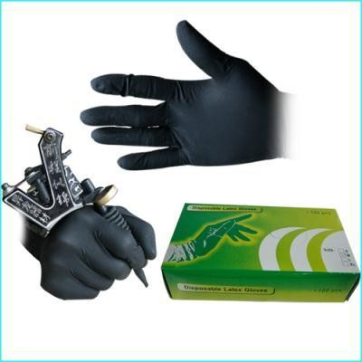 New 100PCS Soft Nitrile Tattoo Gloves Black Small Body Art Black Disposable Tattoo Gloves Available Accessories Free Shipping 2