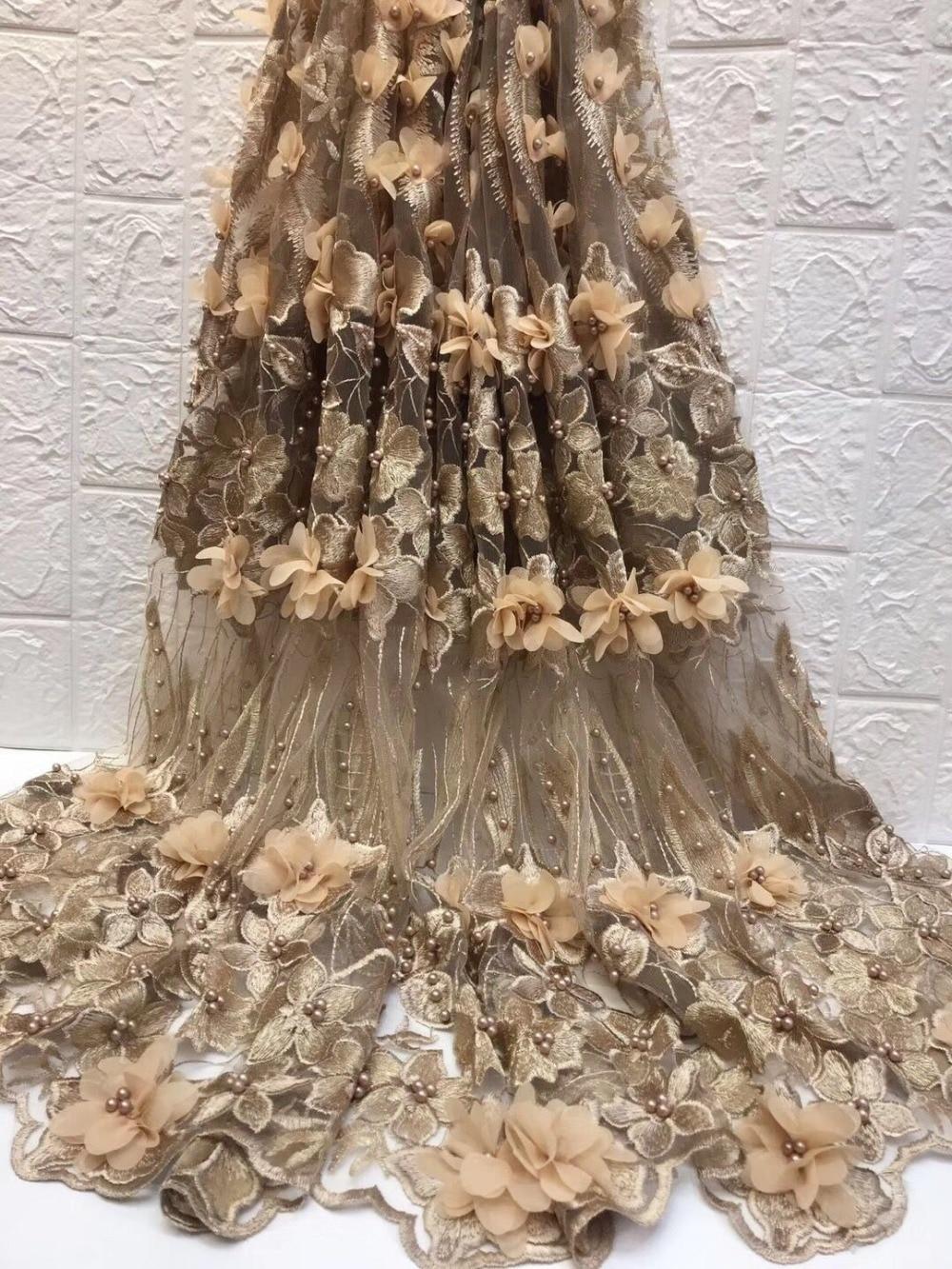 Nigeria Spitze Für Kleidung Bestickt Tüll Spitze Nähen Material Auf Verkauf 3d Afrikanische Blume Bestickt Tüll Spitze Mit Perlen-in Spitze aus Heim und Garten bei  Gruppe 1
