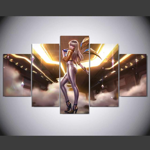 US $15 18  HD canvas printed painting 5piece kda kaisa prestige edition  league of legends Home decor Poster Picture For Living Room YK 1225-in