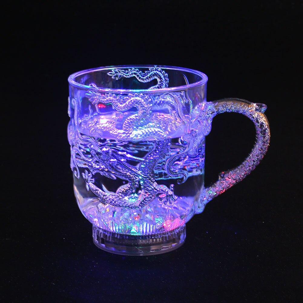 Led универсальное вино стекло для Дракона прохладное для чашки столовые приборы украшения светящиеся стаканчики посуда активированный свет