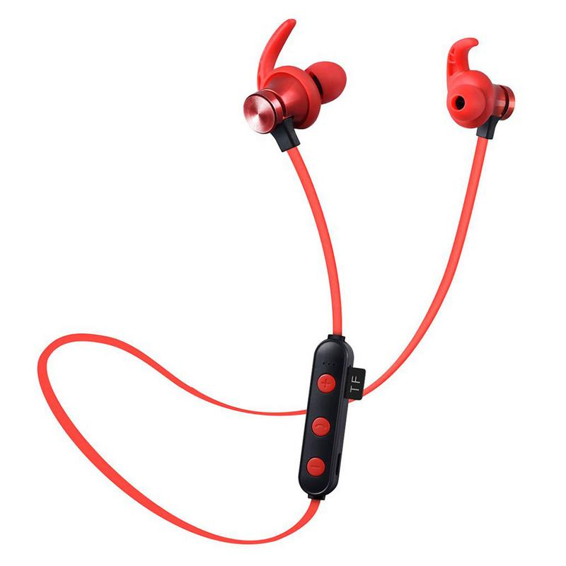New Waterproof Earphone Sweatproof Stereo Headset Wireless Bluetooth Sports Headphones With SD TF Card Slot High Quality Stylish in Bluetooth Earphones Headphones from Consumer Electronics
