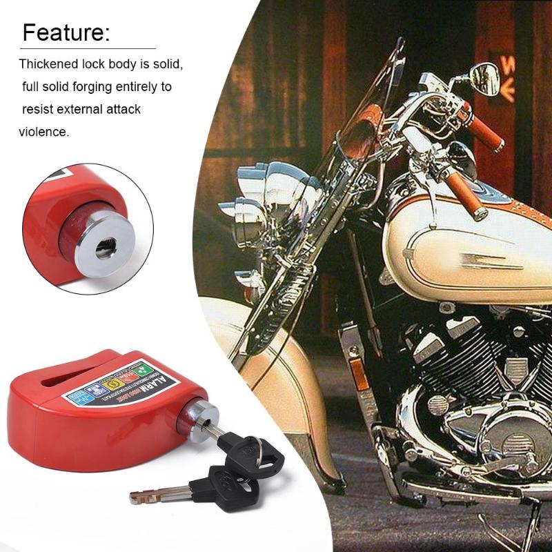 Motorcycle Scooter Disc Brake Lock Anti-theft Wheel Disc Brake Lock Alarm Security Waterproof Safety Siren Lock High Quality