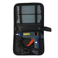Hot melt glue gun kit 100 watts with tote bag and 12 glue sticks for DIY, craft items, sealing and quick repair #50
