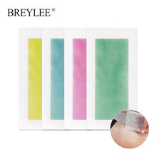 BREYLEE Hair Removal Wax Strips Paper Body Face Beard Profession Hair Fast Remover Double Sided Large Size Tape 20piece=10sheets(China)