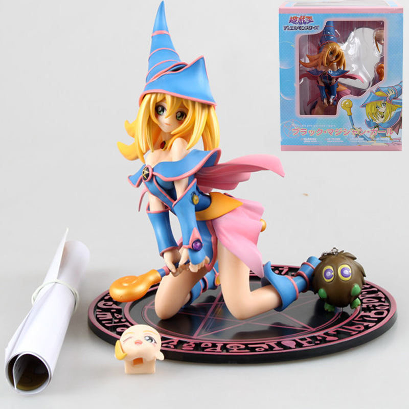 20cm Duel Monsters Beautiful Girl Black Magician Girl Sexy Girls Anime PVC Action Figures Toys Anime Figure Toys For Kids Gifts
