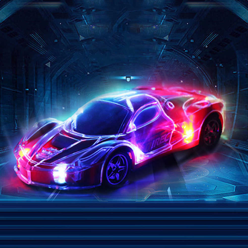 1/24 RC Car High Speed Remote Control RC Racing Car With 3D Lights Kids Toy merry chritmas  gift