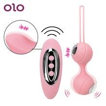OLO G-Spot Massager Vibrator Ben Wa Ball Kegel Exerciser Clitoris Stimulator Kegel Ball Vagina Tightening Sex toys for Woman