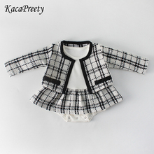 kacapreety Vintage black/white plaid romper cotton