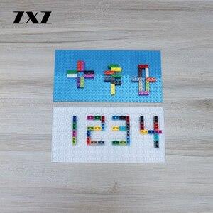 Image 3 - 10 kolory podwójne boki 16*32 punktów DIY klocki płyta podstawowa kompatybilny Action Figures dla dziecka zabawki MOC akcesoria 5 sztuk/partia