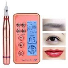 Перманентный макияж устройство для бровей губ подводка для глаз тату машина комплект с картриджем иглы для губ тату машина ручка Перманентный макияж