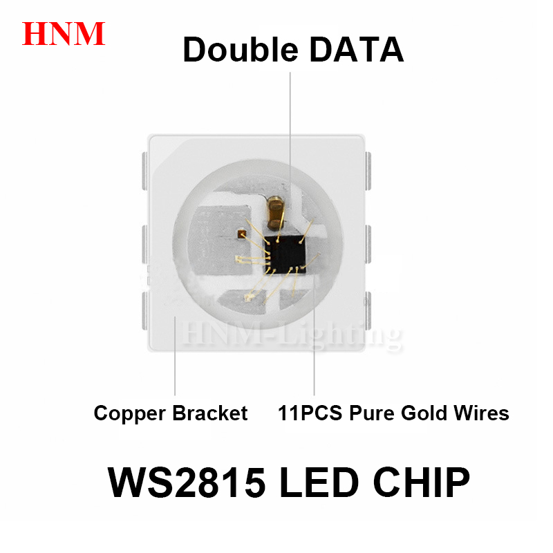 12V WS2815B LED Chip;5050 SMD RGB Pixel Digital Adressable Full Color LED Chips;6pins With WS2815 IC Built-in;SOP-6;1000PCS/bag