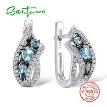 Santuzza فضة أقراط للنساء 925 الفضة الاسترليني أقراط فضة 925 بالحجارة زركون brincos مجوهرات