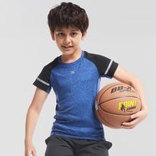 Willarde мальчика сжатия рубашки для мальчиков быстросохнущая Спортивная, с коротким рукавом Баскетбол Футбол Открытый Обучение Спортивная одежда Топы