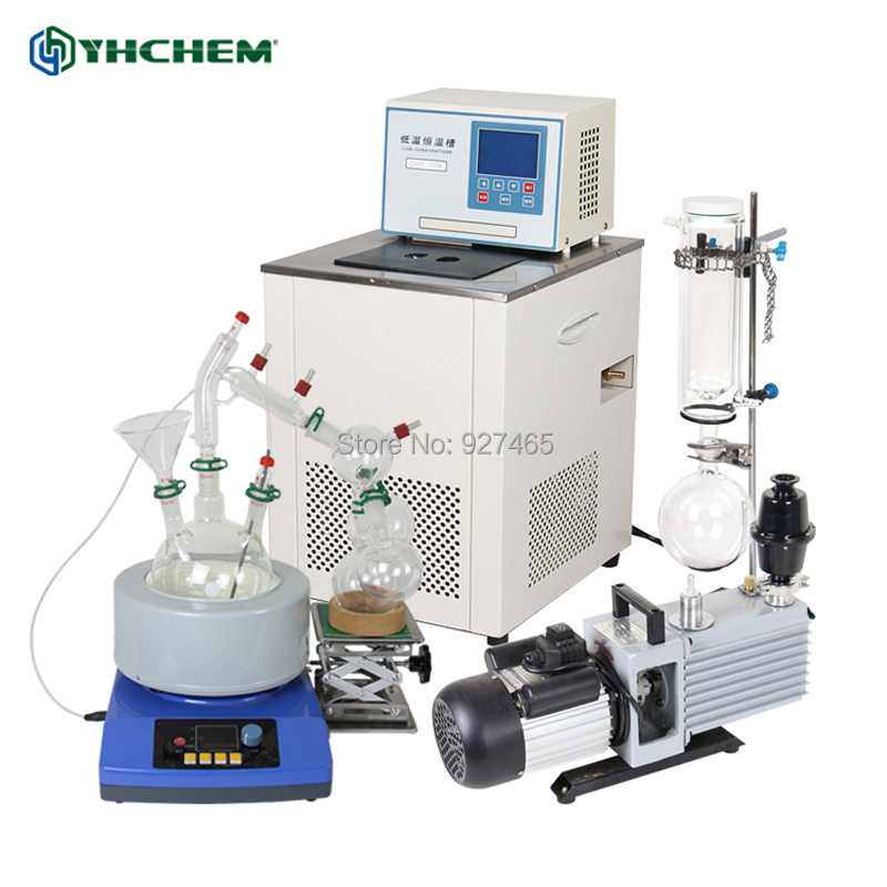 YHCHEM Kit de Distillation d'huile essentielle distillateur court chemin 2L