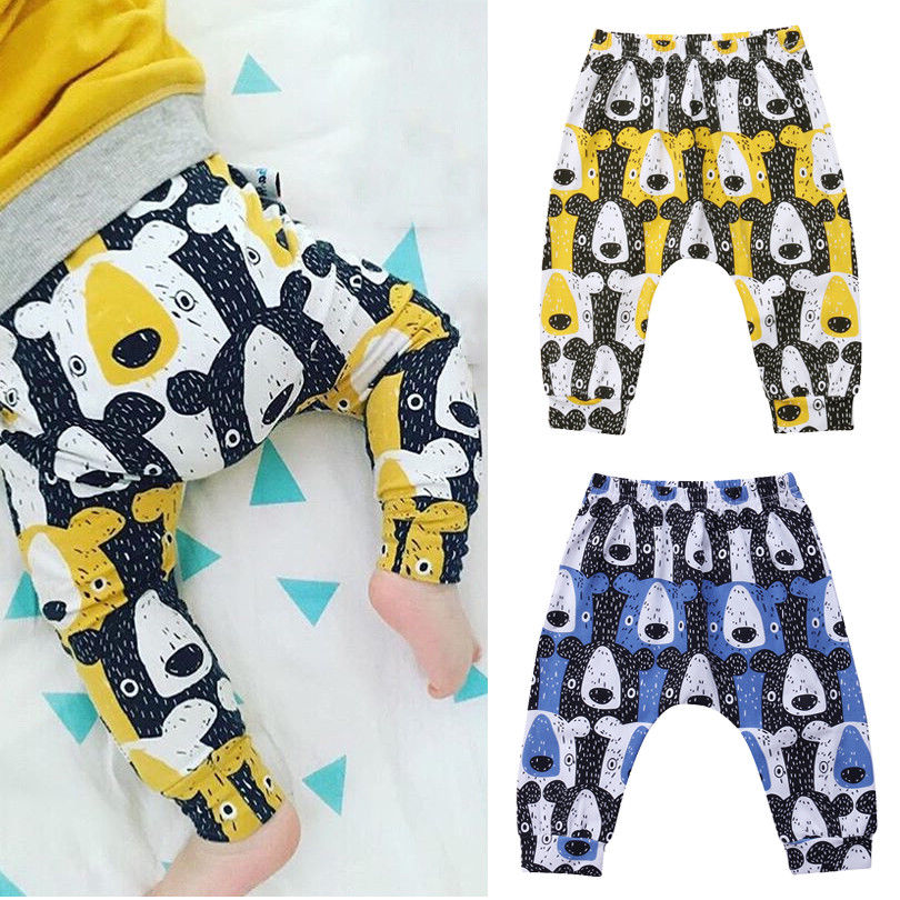 Baby Boys Girl Clothes Bear Harem Pants Trousers Toddler Bottom Baby Pants Legging