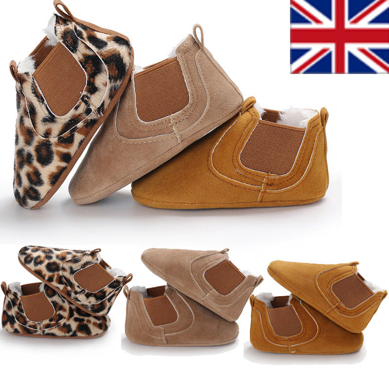 Pudcoco Casual Crib Shoes Toddler Newborn Baby Boy Girl Leather Soft Sole Crib Shoes Sneakers Prewalker UK
