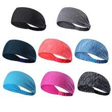 Unisex Sport Sweat Headband Elastic Sweatband Fitness Yoga Sweat Band Outdoor Running Basketball Wide Hair Bands Sports Safety недорого