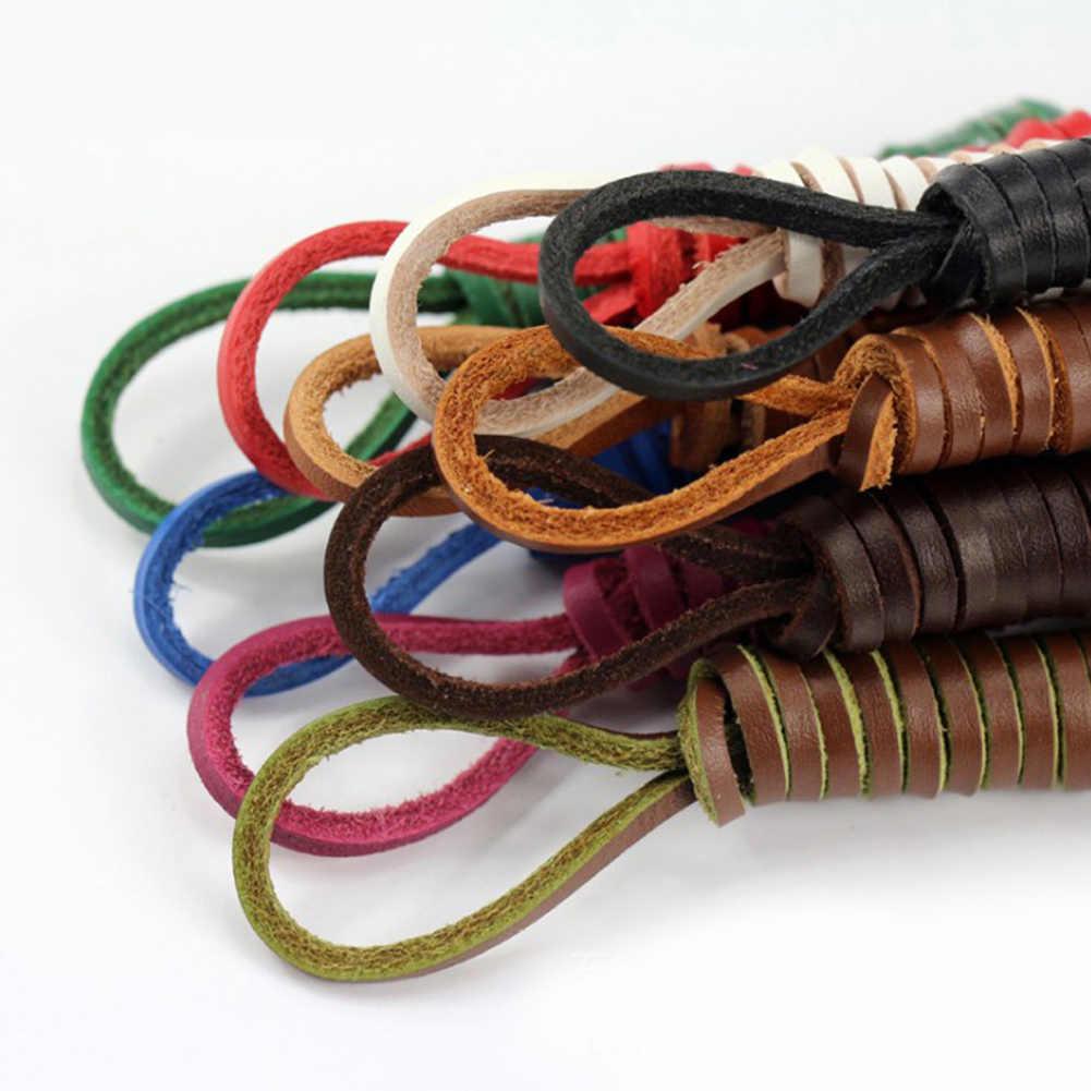 1 çift kare hakiki deri ayakabı Unisex Vintage çizme ayakkabı bağcıkları erkek mokasen ayakkabıları Martin çizmeler ayakkabı bağı Shoestring uzunluğu 80cm