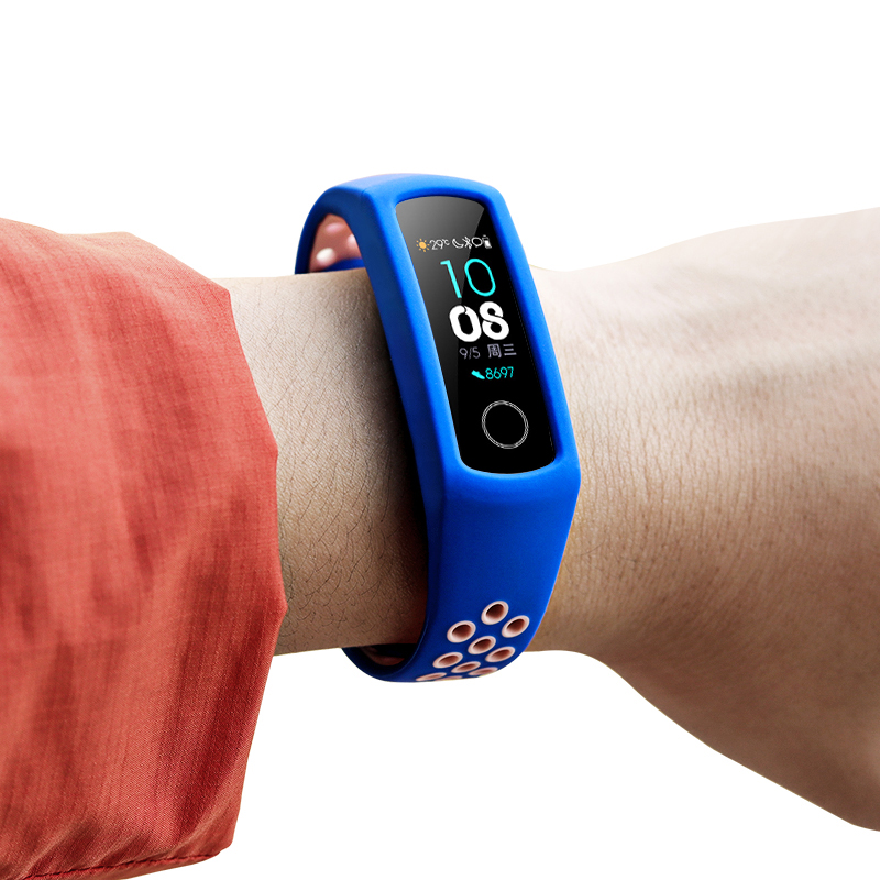 Silicone-Strap Replacement Honor-Band Huawei 4-Porous Smart Breathable for 4/5 Sports
