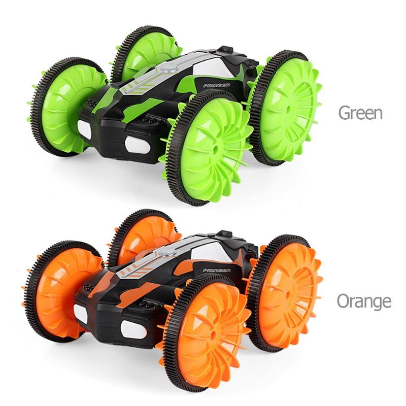 360 Degree Rotation RC Car Driving On Water and Land Crawler Roll Car Toys Rotating Stunt Toys Racer