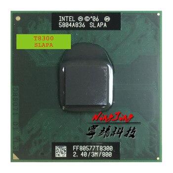 Intel Core 2 Duo T8300 SLAPA SLAYQ 2.4 GHz Dual-Core Dual-Thread CPU Processor 3M 35W Socket P 1