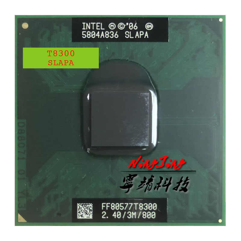 Intel Core 2 Duo T8300 SLAPA SLAYQ 2.4 GHz Dual-Core Dual-Thread di CPU Processore 3M 35W Socket P