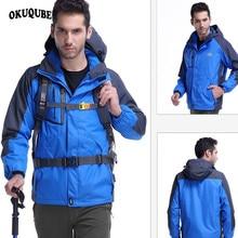 Men Winter Inner Fleece Waterproof Jacket Outdoor Sport Warm Hiking Camping Trekking Skiing Male Jackets Zipper Hoodie Jacket недорого