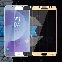 For Samsung J7 2017 Full Tempered Glass for Samsung Galaxy J3 J5 J7 2017 SM-J530 J330 J730 Eu Version Screen Protector Film Case смартфон samsung galaxy j7 2017 16gb sm j730 золотистый