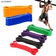 Эспандеры, оборудование для фитнеса, эластичные ленты для упражнений, натуральные латексные резиновые петли, экспандер для тренажерного зала, усиленный тренировочный мощный браслет