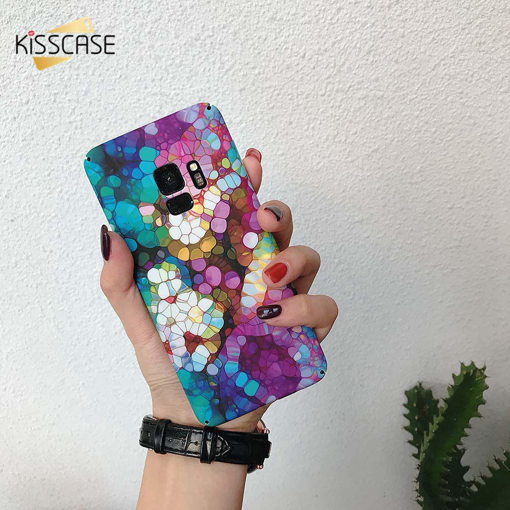 KISSCASE Colorful Hard PC Mobile Phone Case For Xiaomi mi 8 Lite 9 Redmi Note 7 Fitted Fundas Capa Fashion Covers