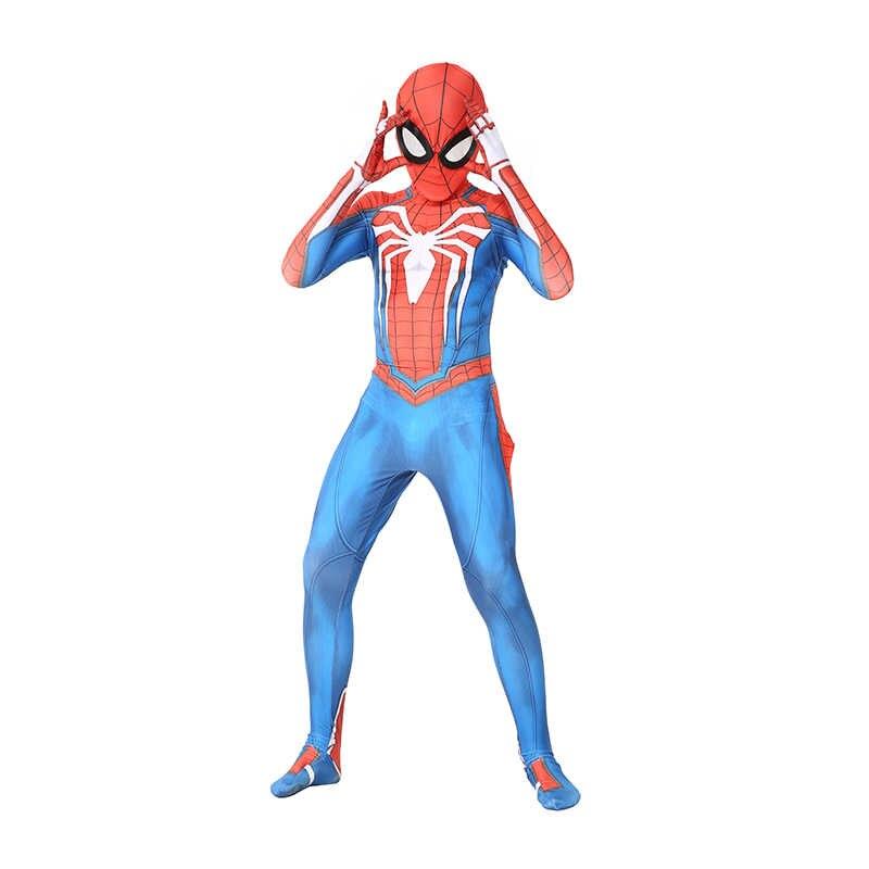 Trẻ em Marvel Comic Giả Tưởng Siêu Anh Hùng Cổ Điển Ps4 Insomniac Games Người Nhện Thụy Đảng Zentai Phù Hợp Với Halloween Trang Phục Hóa Trang