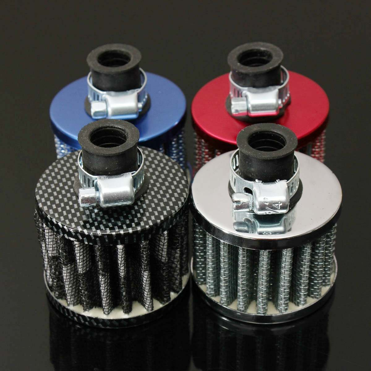 Kit de Filtro de aire frío de aceite de Motor duradero Universal de 12mm de alta calidad cárter de estator respiradero