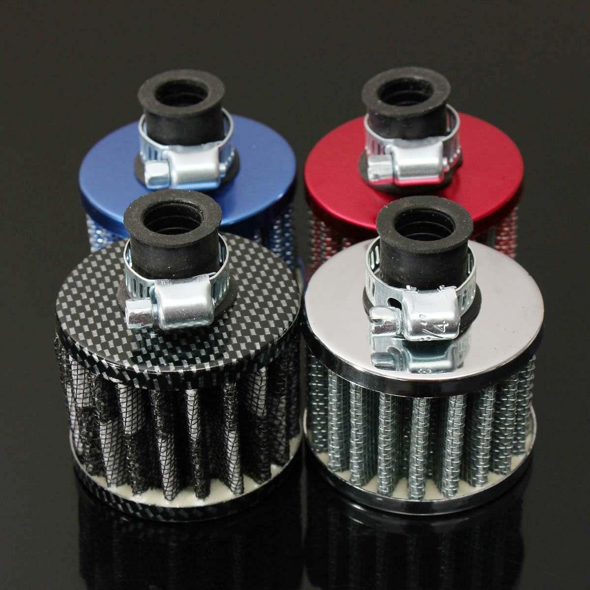 Universal 12mm Hohe Qualität Durable Motor Öl Cold Air Intake Filter Kit Kurbel Fall Vent Abdeckung Verschnaufpause