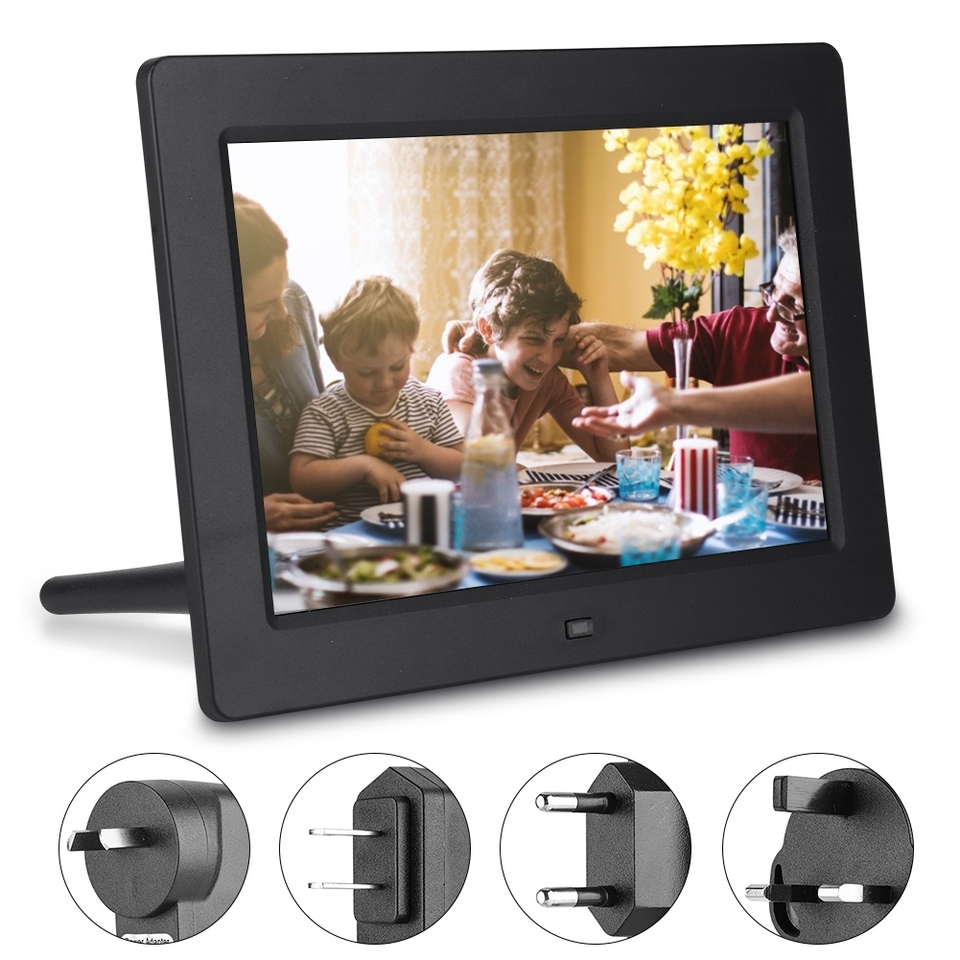 high-Definition Full-View Digital Photo Frame 10.1-inch Wall-Mounted Smart Advertising Player Support for Music//Picture//Video Playback